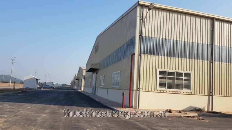 Cho thuê nhà xưởng tại KCN Song Khê- Nội Hoàng