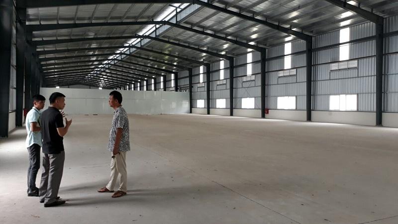 Cho thuê kho xưởng cụm công nghiệp Khắc Niệm 1,170m2
