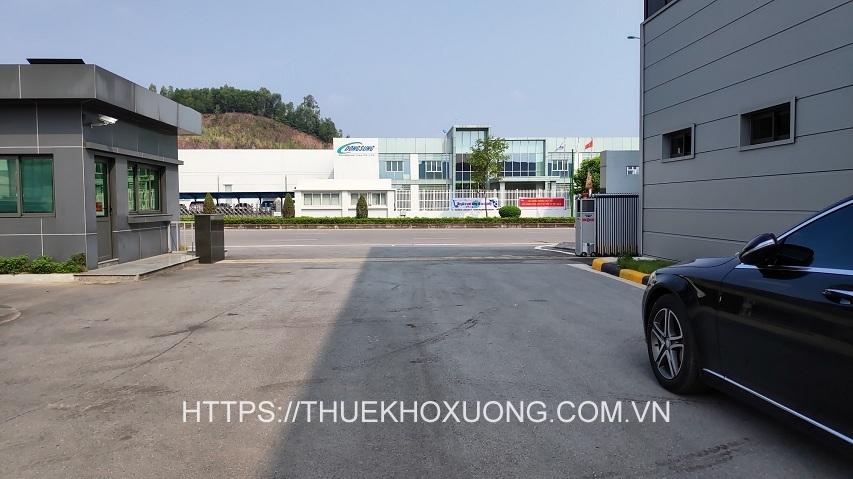 Cho thuê nhà xưởng khu công nghiệp Điềm Thụy Thái Nguyên